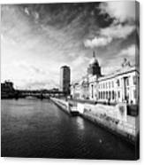 The Custom House Custom House Quay And River Liffey Dublin Republic Of Ireland Canvas Print