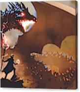 The Dragon Wizard Canvas Print
