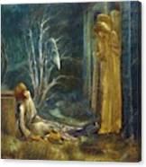 The Dream Of Lancelot Study Canvas Print