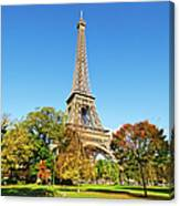 The Eiffel Tower With Some Autumnal Canvas Print