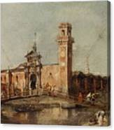 The Entrance To The Arsenal In Venice  Canvas Print
