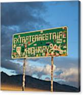 The Extraterrestrial Highway Canvas Print