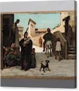 The Fable Of The Miller  His Son  And The Donkey  Canvas Print