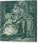 The Fair Penitent Laetitia In Penitence Canvas Print