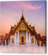 The Famous Marble Temple Benchamabophit Canvas Print