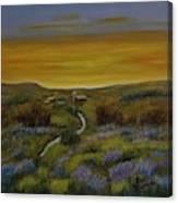 The Farm At Dusk Canvas Print