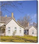The Farmhouse, Washhouse And Garage Canvas Print
