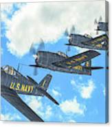 The First Blue Angels - Oil Canvas Print