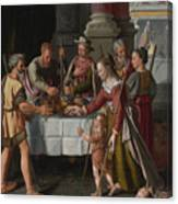 The First Passover Feast Canvas Print