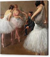 The First Pose, The Ballet Lesson Canvas Print
