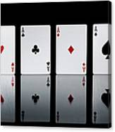 The Four Aces From A Pack Of Playing Canvas Print