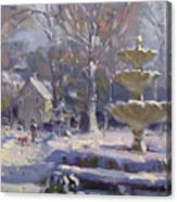 The Frozen Fountain Canvas Print
