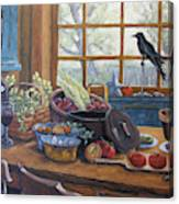 The Good Harvest Country Kitchen By Richard Pranke Canvas Print