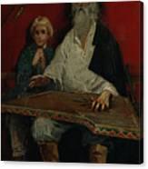 The Gusli Player. Artist Ryabushkin Canvas Print