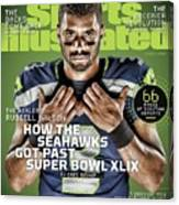 The Healer Russell Wilson 2015 Nfl Football Preview Issue Sports Illustrated Cover Canvas Print