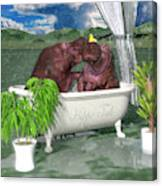 The Hippo Tub Canvas Print
