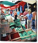The Italian Fruit Market Canvas Print