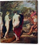 The Judgment Of Paris, C1635-1638 Canvas Print