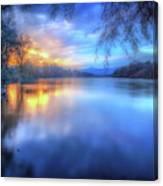 The Last Light Sunset On The Sacramento River Canvas Print