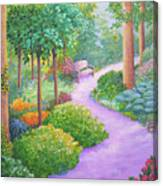 The Lilac Path - Rest Awhile Canvas Print
