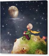 The Little Prince With A Rose On A Canvas Print