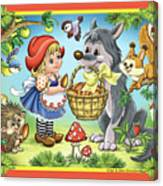 The Little Red Riding Hood Canvas Print