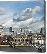 The London Skyline Towards St Pauls Canvas Print