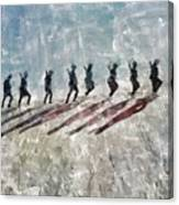 The Long Walk, World War Two Canvas Print