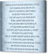 The Man In The Glass Poem - Blue Grey Canvas Print