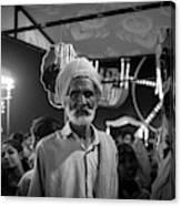 The Many Shades Of Delhi - Turbaned Man Canvas Print