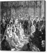 The Marriage Of Princess Louise, 21 Canvas Print