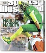 The Mayhem Begins The Case For Marcus Mariota And Oregon In Sports Illustrated Cover Canvas Print