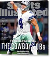 The Men. The Myths. The Cowboys Qbs. Sports Illustrated Cover Canvas Print