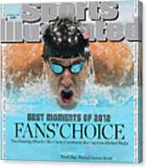 The Moments Of 2012 Michael Phelps Sports Illustrated Cover Canvas Print
