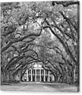 The Old South Version 3 Bw Canvas Print