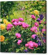 The Painted Garden Canvas Print