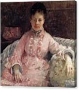 The Pink Dress Also Known As Poop - 1870 - Pc Canvas Print