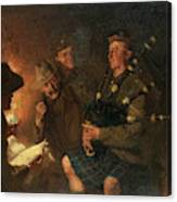 The Pipes By Firelight Canvas Print
