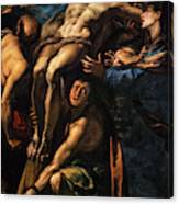 The Raising Of The Cross, 1620 Canvas Print