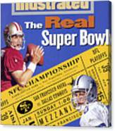 The Real Super Bowl, 1995 Nfc Championship Preview Sports Illustrated Cover Canvas Print