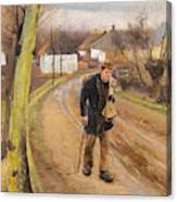 The Road Through The Village Of Ring Canvas Print