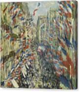 The Rue Montorgueil In Paris  Celebration  Canvas Print