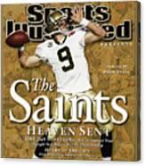 The Saints, Heaven Sent Super Bowl Xliv Champions Sports Illustrated Cover Canvas Print