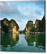 The Scenic Of Halong Bay Canvas Print