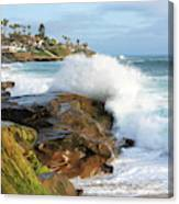The Sea Was Angry That Day My Friends Canvas Print