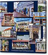The Shops Of Provincetown Cape Cod Massachusetts Collage Pa Canvas Print