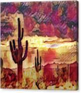 The Sonoran Saguaro  Canvas Print