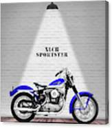The Sportster Vintage Motorcycle Canvas Print