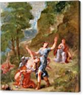 The Spring - Eurydice Bitten By A Serpent While Picking Flowers, Eurydice's Death Canvas Print