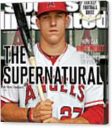 The Supernatural How Can Mike Trout Be So Good So Young Sports Illustrated Cover Canvas Print